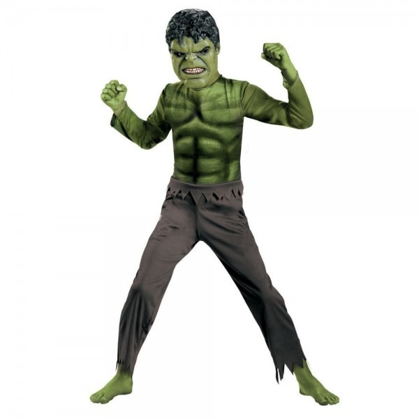 Hulk With Mask Boys Halloween Costume