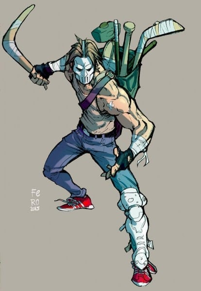 Casey Jones Color By Fpeniche Deviantart Com On @deviantart