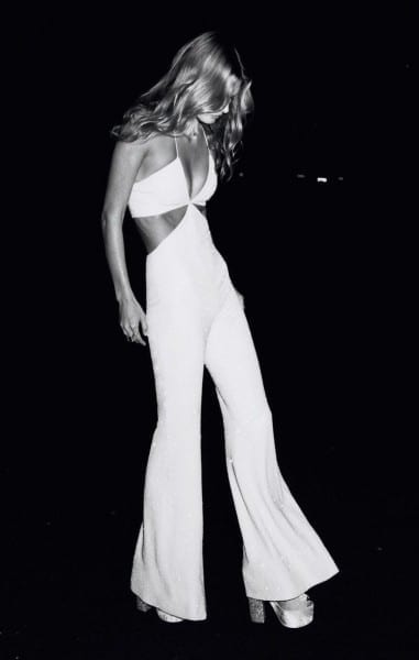 White Sexy Jumpsuit In Self Service Magazine Ss15
