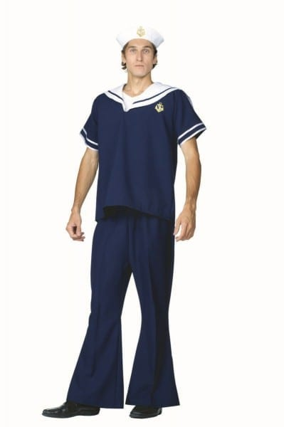 Navy Sailor Costume With Bell Bottom Pants
