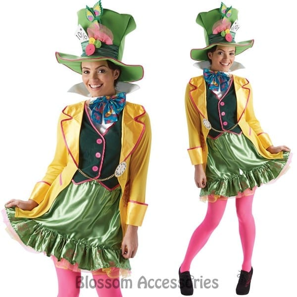 Disney Mad Hatter Ladies Costume By Spotlight Large