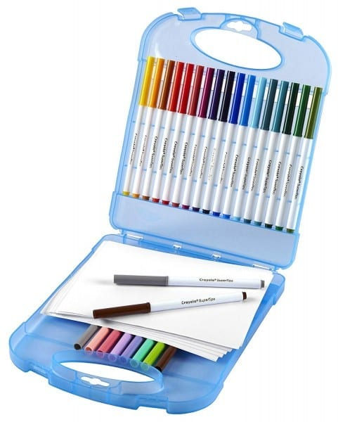 Amazon Com  Crayola Super Tips Washable Markers And Paper Set, 25