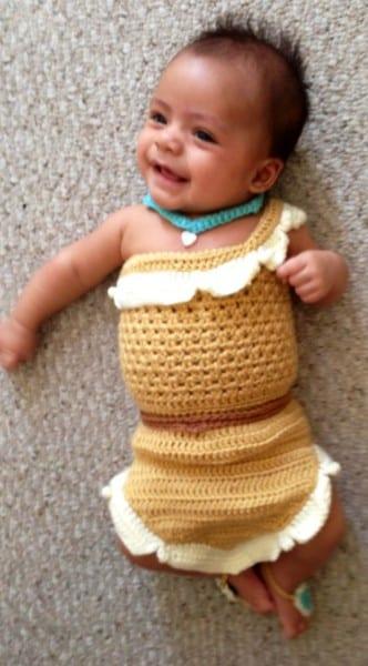 Crochet Disney's Pocahontas Inspired Princess Dress