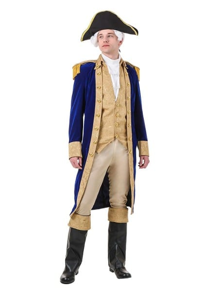 Amazon Com  Adult George Washington Costume  Clothing