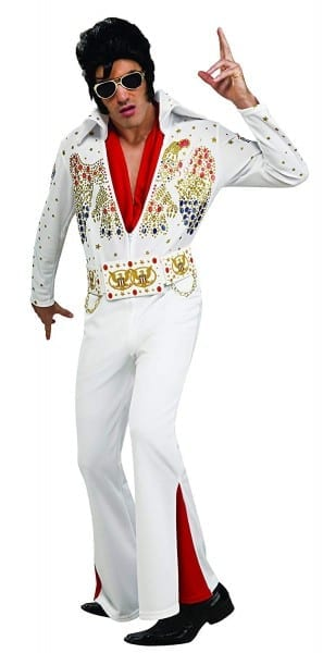 Amazon Com  Elvis Now Deluxe Aloha Elvis Costume  Clothing