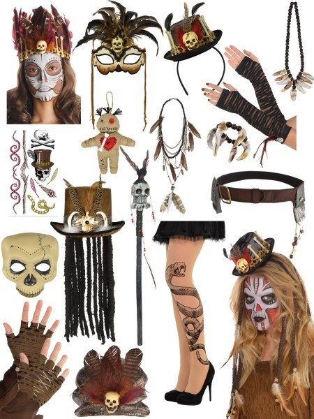 Adult Witch Doctor Fancy Dress Mens Ladies Halloween Costume