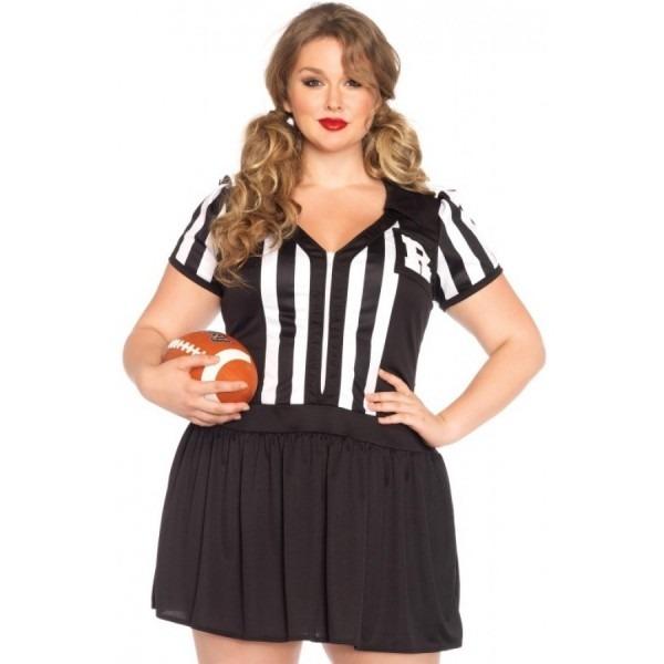 Halftime Hottie Plus Size Womens Referee Costume