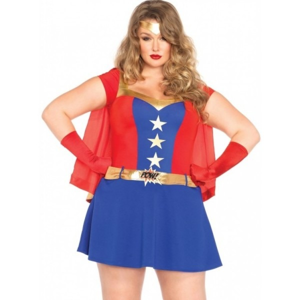 Comic Book Hero Plus Size Costume