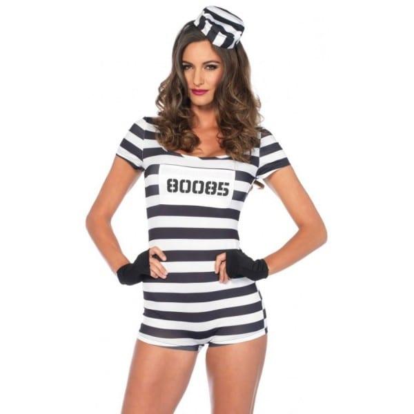 Convict Cute Womens Prisoner Costume