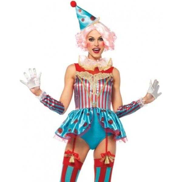 Delightful Circus Clown Womens Halloween Costume