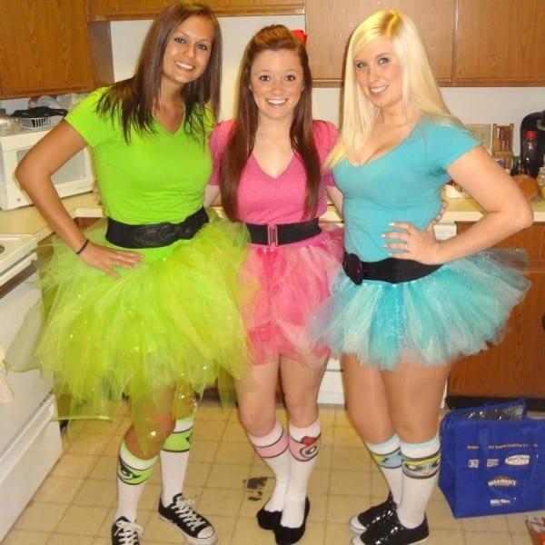 Powerpuff Girls Costumes! No Sew Tutus  ) Halloween 2012