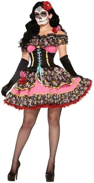 Amazon Com  Forum Novelties Women's Day Of Dead Senorita Costume