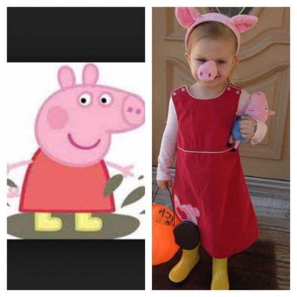 Peppa Pig Costume  Red Jumper Dress, Pink Leotard, Pink Tights