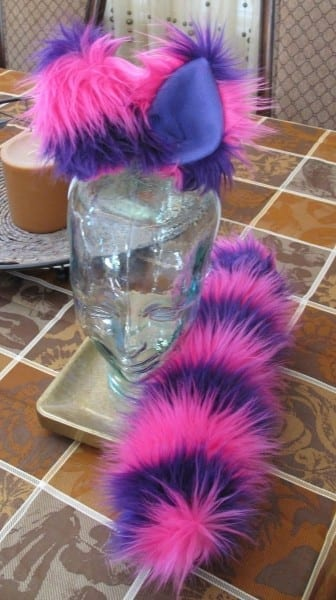 Hand Crafted Pink Purple Cheshire Cat Ears & Tail Set In 2