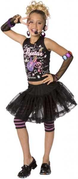Child 80s Punk Rock Star Costume For Girls In 2018