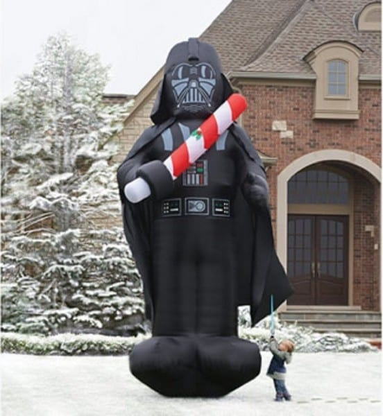 Darth Vader – 16 Foot Tall – Candy Cane Lightsaber…you're Lawn