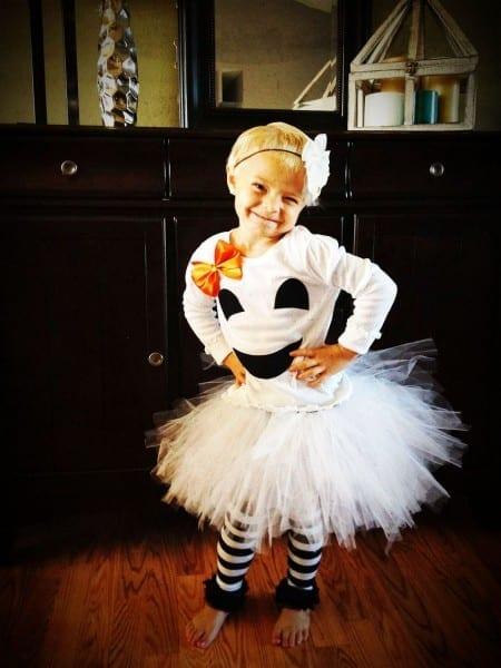Little Girl Baby Girl Halloween Ghost Costume Including Leg