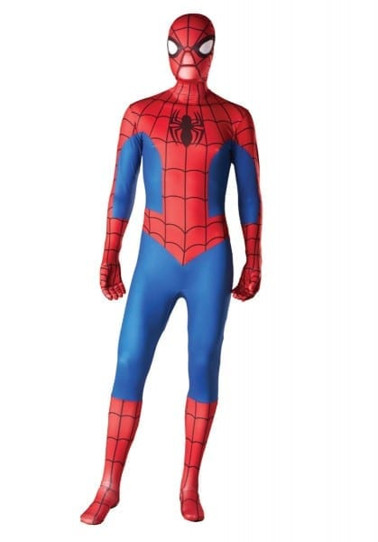 Spiderman Second Skin Costume, Spiderman Fancy Dress