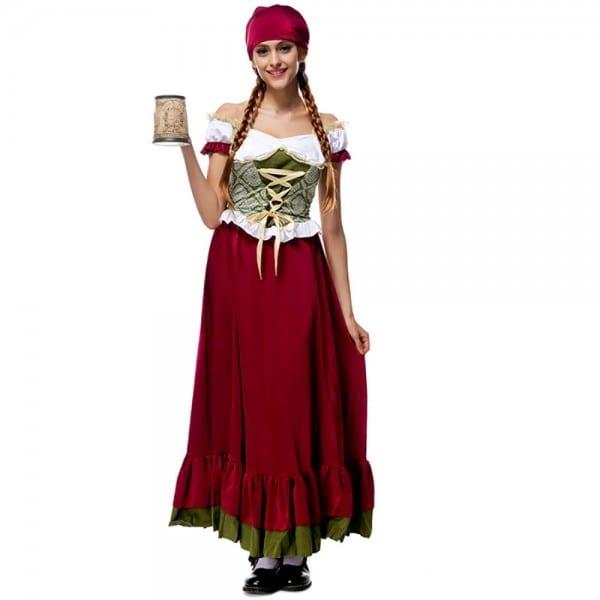 Adult Bavarian Beer Girl Costume Oktoberfest Festival Costume
