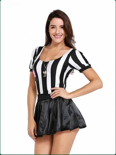 Adult Costume Women Referee Dress Sexy Girls Cheerleader Costumes