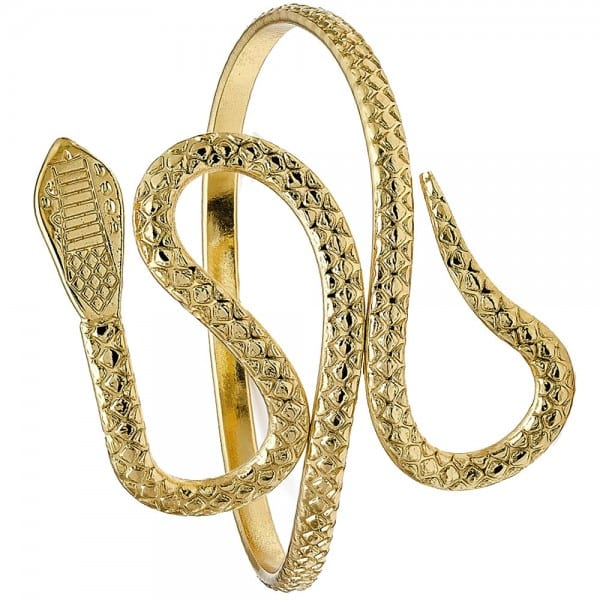 Egyptian Costume Jewellery Style Ladies Wide Gold Plated Snake