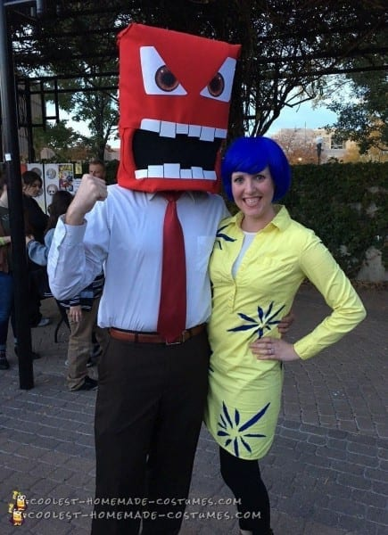 Amazing Homemade Anger And Joy From Inside Out Costumes Designs Of
