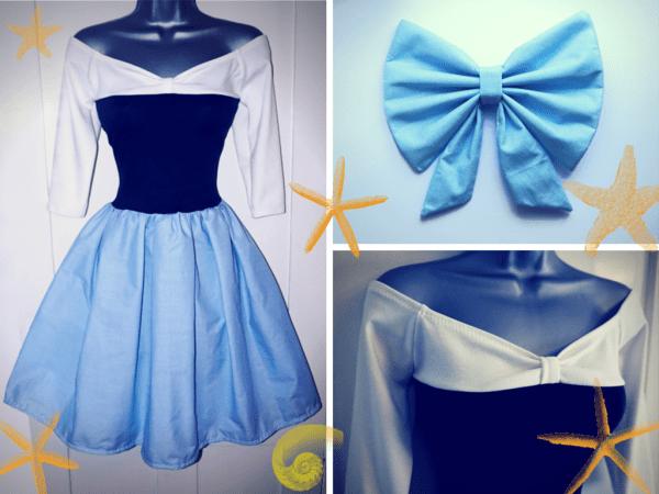 Ariel's Blue Land Dress By Lolanova On Deviantart