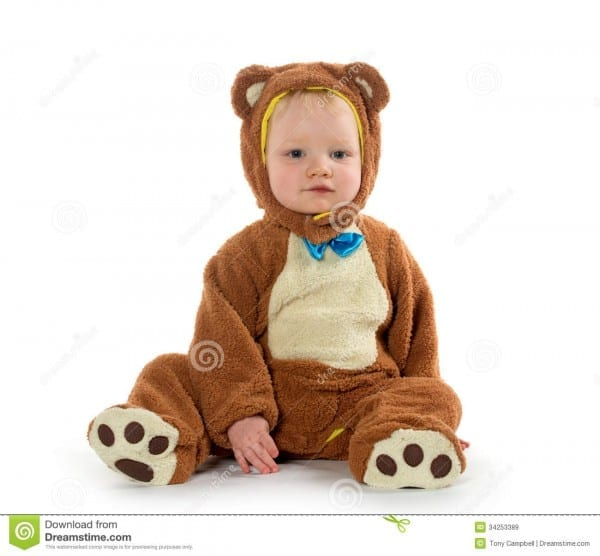 Baby Boy In Bear Costume Stock Image  Image Of Halloween