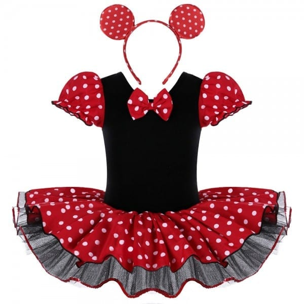 Baby Girls Minnie Mouse Mickey Cosplay Ballet Leotard Dresses