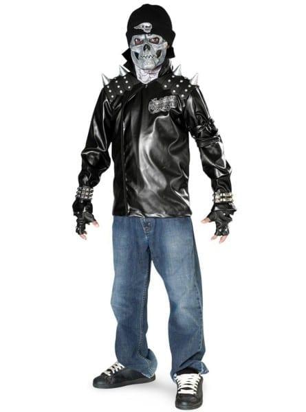 Biker Skeleton Child Costume  The Coolest