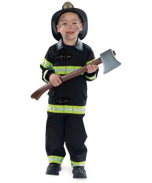 Black Firefighter Halloween Costume