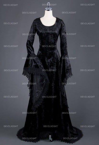 Black Gothic Vampire Medieval Dress  2561488