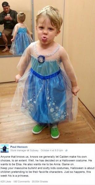 Boy Wanted To Be Elsa For Halloween And His Dad Had The Best