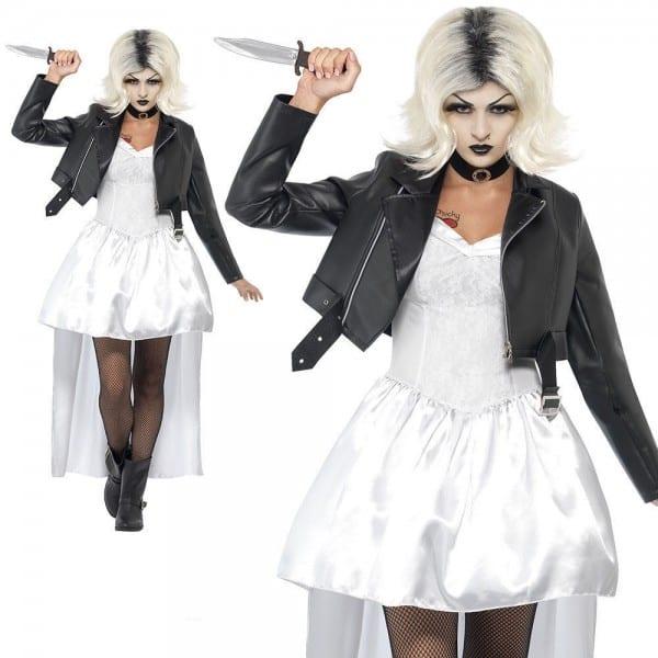 Adult Bride Of Chucky Costume Ladies Womens 80s Halloween Fancy