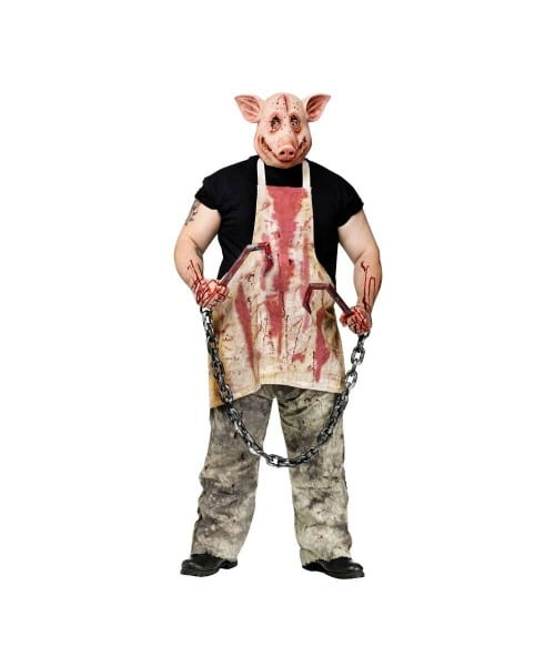 Adult Butcher Pig Scary Halloween Costume