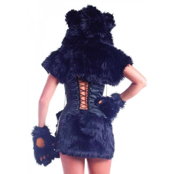 Black Bear Womens Cosplay Halloween Costume 8 Piece Set