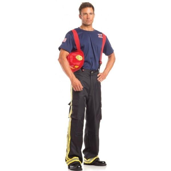 Mens Fierce Firefighter 3 Piece Halloween Costume