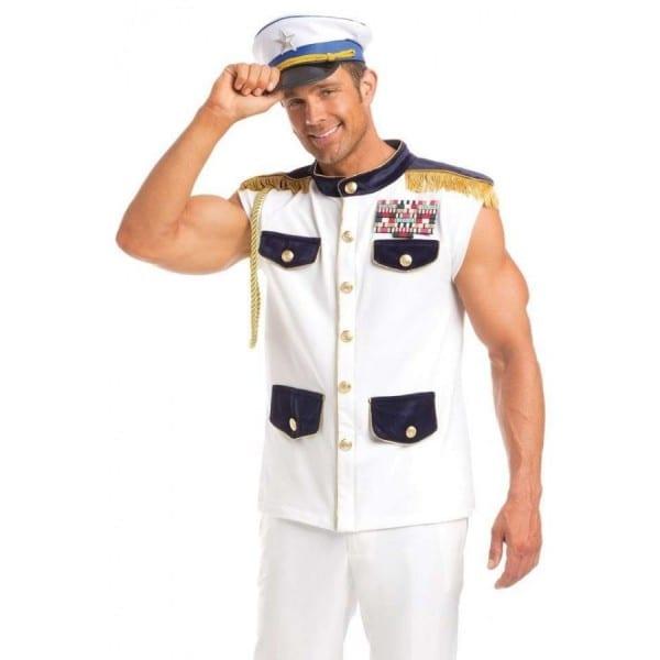 Sea Captain Mens 2 Piece Halloween Costume
