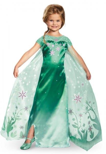 Elsa Frozen Fever Deluxe Child Halloween Costume