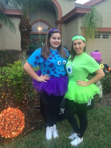 198123fb8e8d Easy Diy Halloween Costumes! Mike And Sully