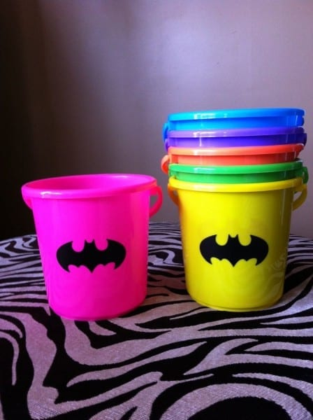 Batman And Batgirl Personalized Children's Party Favor Buckets