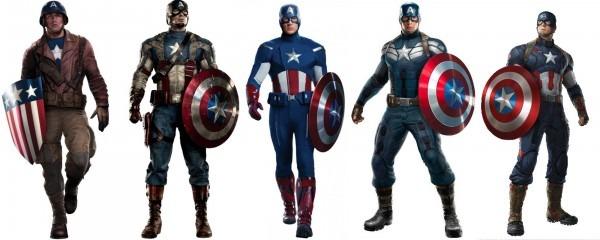 Evolution Of The Captain America Costumeredheaded Seamstress