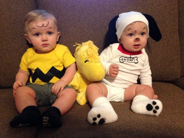 Twin Halloween Costumes  Charlie Brown And Snoopy  Boy And Girl
