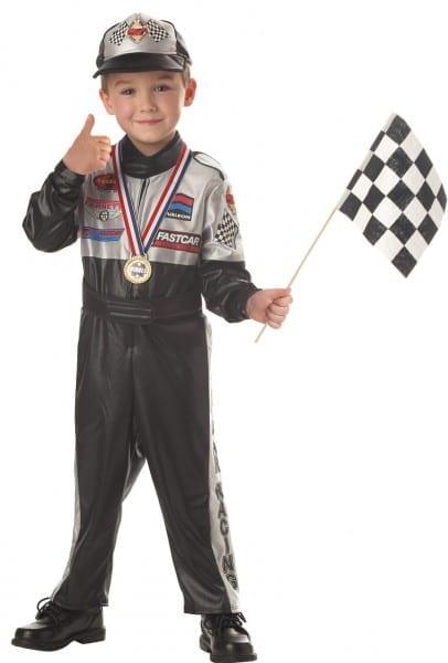 Champion Race Car Driver Kids Costume