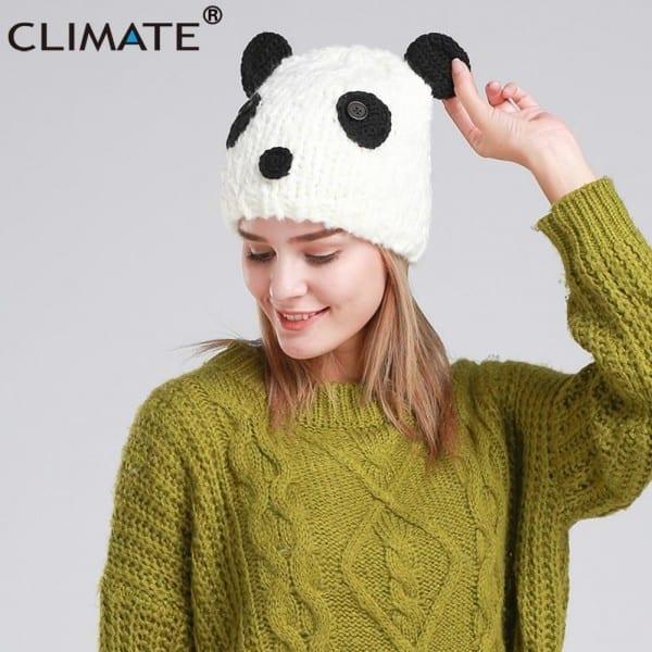 Climate Halloween Costume Panda Beanie Hat Cap Panda Winter Warm