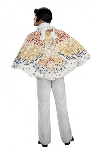 White Elvis Cape Eagle Design Costume Accessory