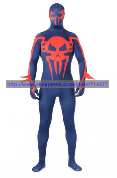 Custom Made Blue And Red Devil Fullbody Lycra Spandex Zentai