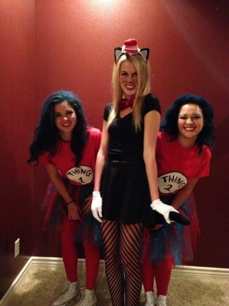 Group Halloween Costume  College  Thing 1, Thing 2, Cat In The Hat