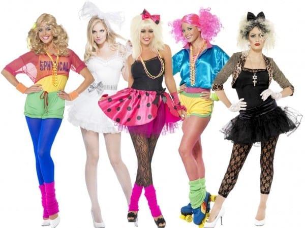 1980s Celebrity Ladies Fancy Dress Pop Star Retro 80s Womens