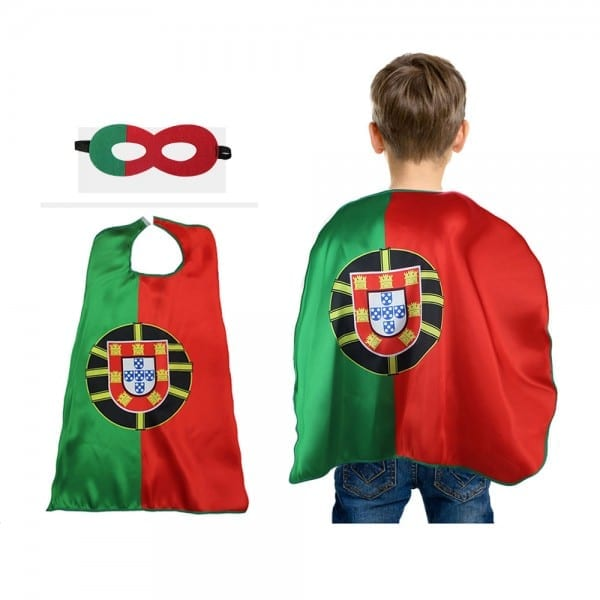 D Q Z L 27  Satin Fabric Portugal Cape Mask Costumes For Boys